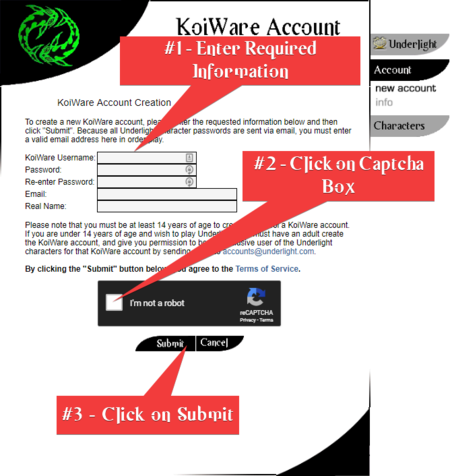 Create KoiWare Account